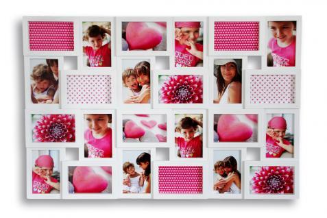 Bilderrahmen weiß 24 Fotos Collage Fotogalerie Fotocollage Galerie