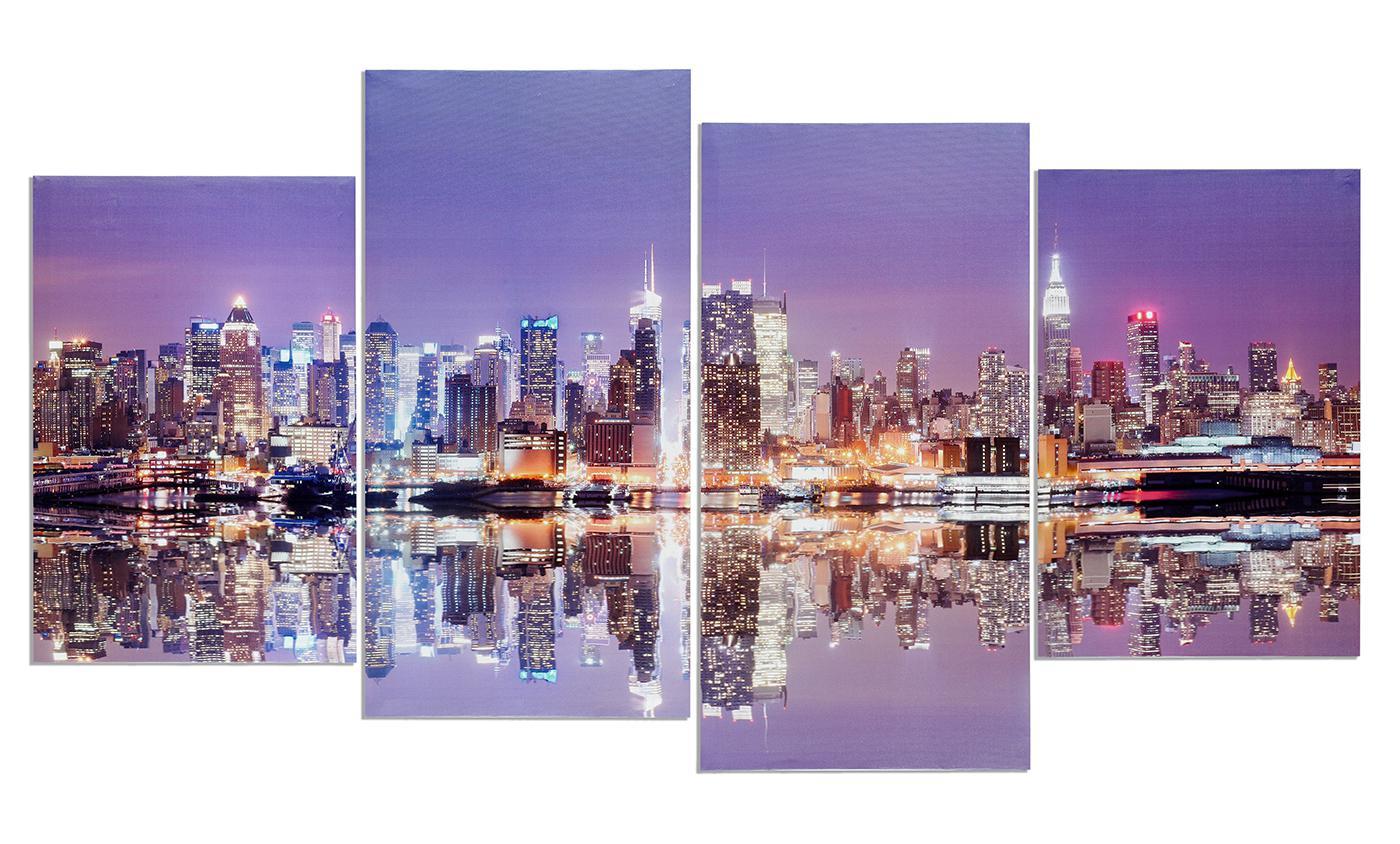 New York Leinwandbild ~ Wandbild 4 teilig manhattan skyline new york usa amerika bild