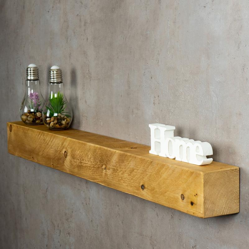 levandeo Wandregal Holz Massiv 100x10cm Eiche Farbig Wandboard Regal ...