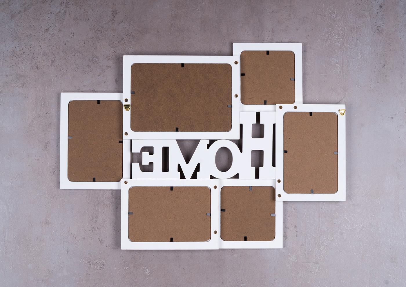 bilderrahmen holz 6 fotos home 53x38 5 fotorahmen collage galerie kaufen bei living by design. Black Bedroom Furniture Sets. Home Design Ideas