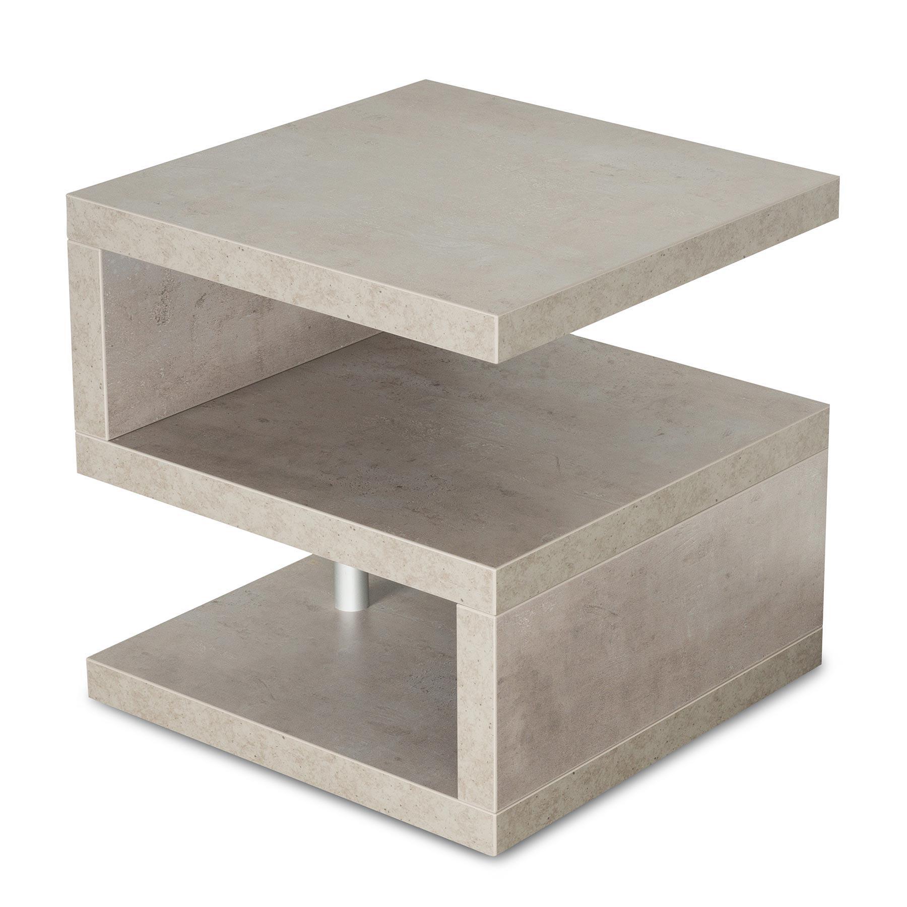 couchtisch sigi 44x44x44cm betonoptik grau beistelltisch. Black Bedroom Furniture Sets. Home Design Ideas