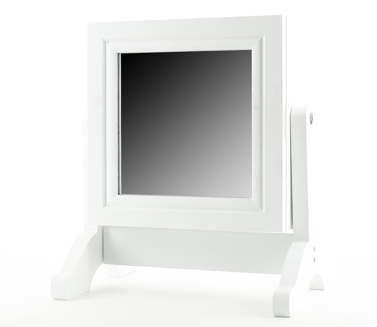 Schmuckkasten schmuckschrank holz wei mit spiegel for Spiegel zum hinstellen