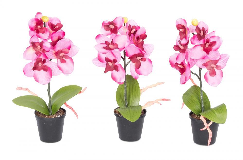 3er Set Orchideen 20x4cm Rosa Weiss Kunstblume Deko Pflanze Kaufen