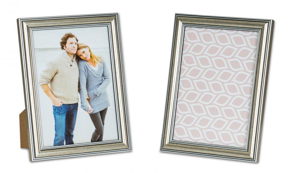 2er Set Bilderrahmen 13x18cm Fotorahmen Silber Antik Portraitrahmen ...