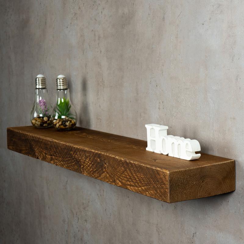 levandeo wandregal holz massiv 100x20cm nussbaum farbig. Black Bedroom Furniture Sets. Home Design Ideas