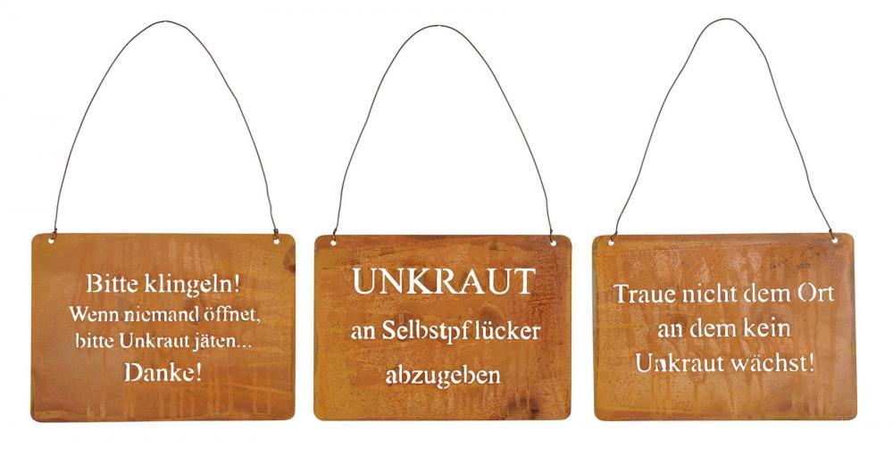 3er Set Wandbilder Spruche 18x13cm Schilder Garten Deko Turschild