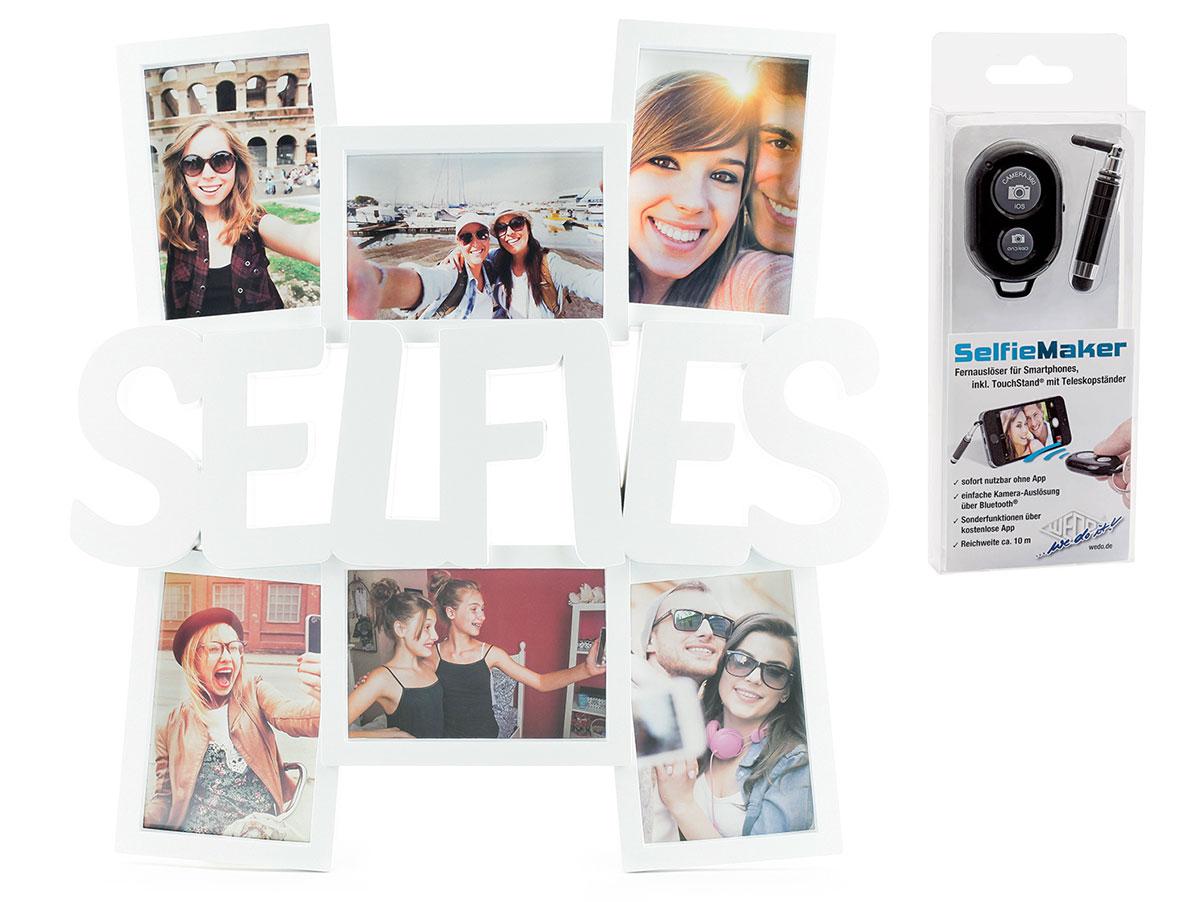 Selfie Bilderrahmen Weiß für 6 Fotos Fotorahmen Fotogalerie Collage ...