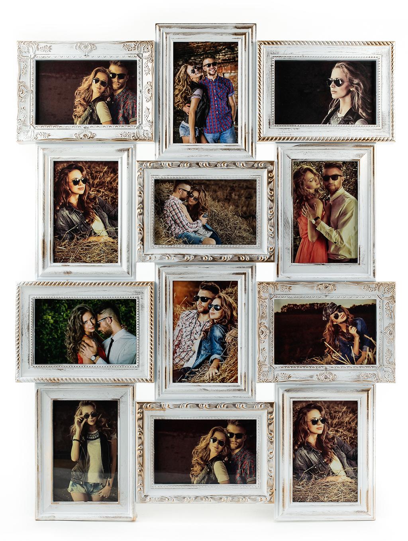 Bilderrahmen weiß gold gewischt 12 Fotos Barock antik Galerie ...