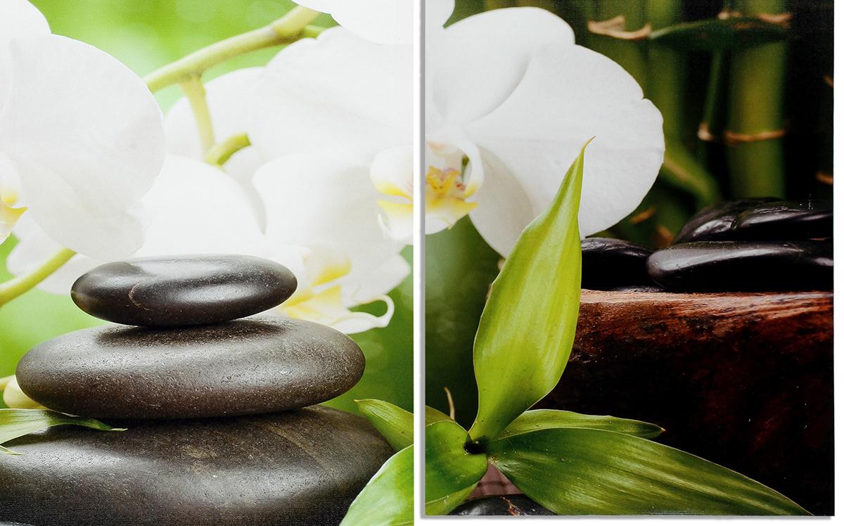 wandbild 4 teilig spa wellness kerzen orchidee feng shui bild leinwand kaufen bei living by design. Black Bedroom Furniture Sets. Home Design Ideas
