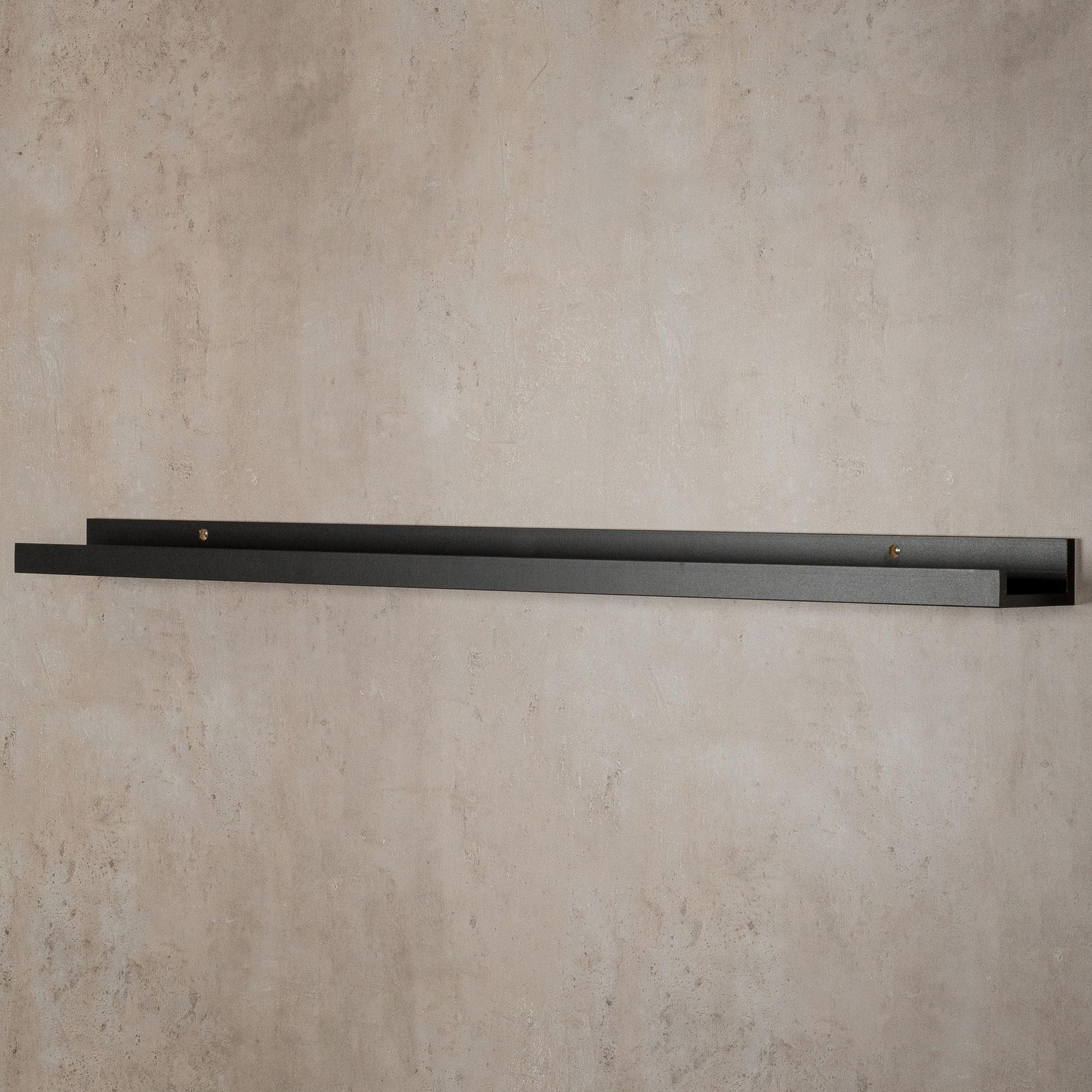 Bilderleiste Holz bilderleiste schwarz 70cm lang mdf holz bilderschiene galerieschiene