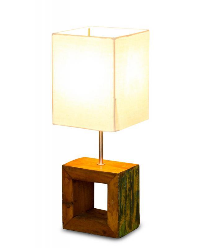Tischlampe 16 X 45 X 16 Cm Treibholz Tischleuchte Holz Lampe