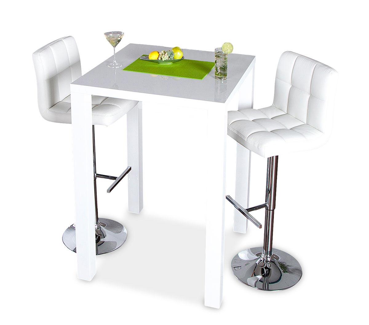 bar tisch tresen k chentisch wei hochglanz stehtisch. Black Bedroom Furniture Sets. Home Design Ideas