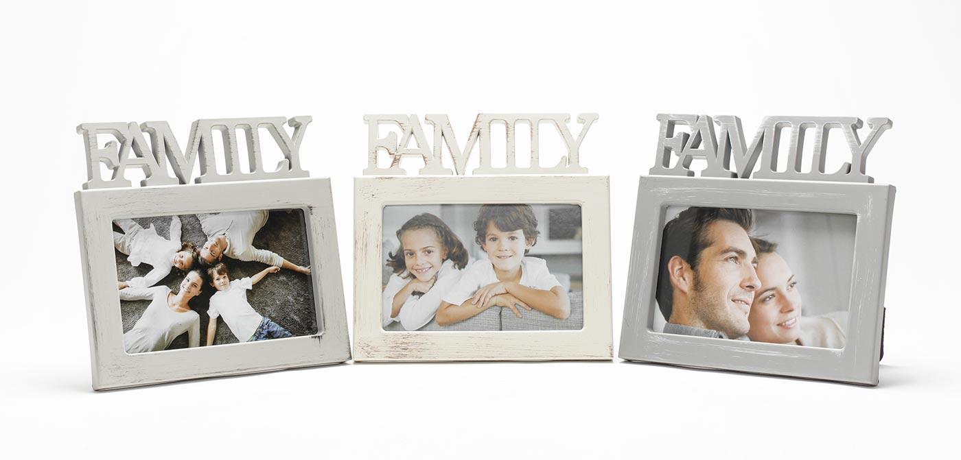 3er Set Fotoaufsteller Bilderrahmen Family Fotorahmen Familie ...