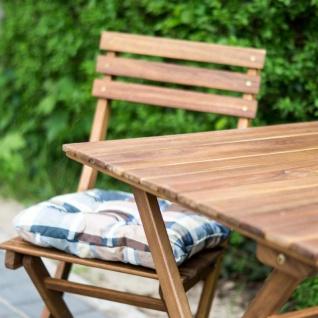 5tlg. Balkonmöbel Set Tisch Stühle Stuhlkissen Akazienholz Garten - Vorschau 4