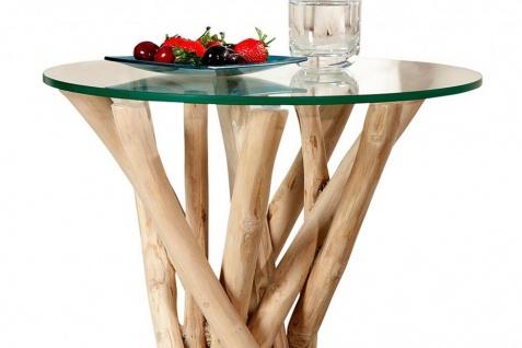 Couchtisch Beistelltisch Treibholz Glas 50x35x35cm Unikat - Vorschau 3