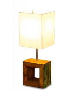 Tischlampe 16 x 45 x 16 cm Treibholz Tischleuchte Holz Lampe Teakholz Deko