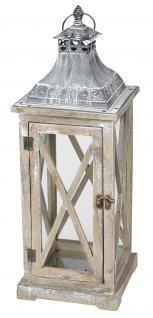 Laterne 50x18x18cm Holz Metall Windlicht Shabby Chic Vintage Deko