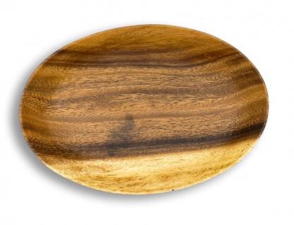 Holzschale Akazie 23cm Oval Design Snackschale Schale Obstschale Dekoschale