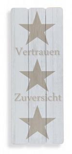 Wandbild Sterne Vertrauen Holz-Bild Stars Wandschild Modern Holzbild - Vorschau