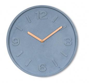 Hochwertige Wanduhr Beton-Uhr 30cm Grau Kupfer Uhrzeit Wanddeko Modern
