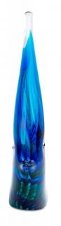 levandeo Glas Skulptur BxHxT 16x21x4cm Glasfigur Fisch Glaskunst Blau Maritim - Vorschau 4