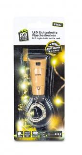 Lichterkette Flaschenkorken 8 LED Flaschenlicht Korkenlicht Partydeko Licht