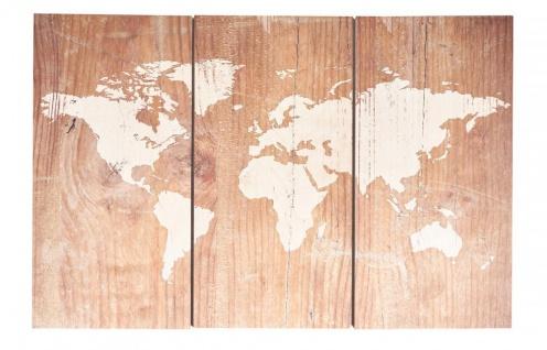 Wandbild 90x60cm Weltkarte Birkenholz Holz Holzbild Wanddekoration Wooden Map