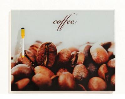 Memotafel Schreibtafel Coffee Kaffee Glas 30x40cm - inkl. Boardmarker - Vorschau