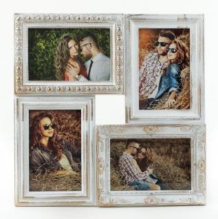 Bilderrahmen weiß gold gewischt 4 Fotos Barock antik Galerie Collage