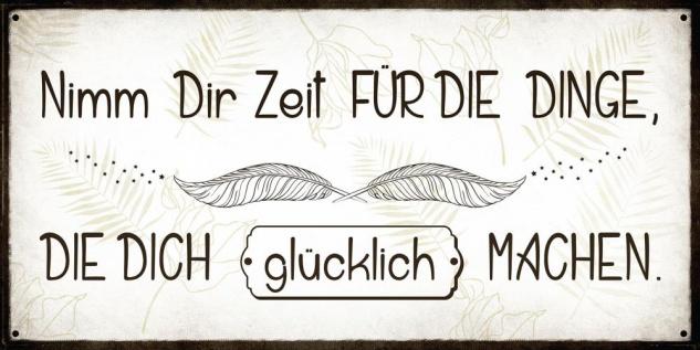 Wandbild 40x20cm Nimm dir Zeit Glück Spruch Deko Wandschild Freunde Bild Deko