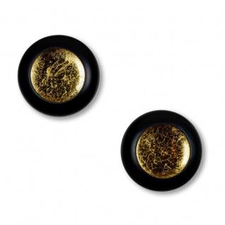 2er Set Teelichthalter Schwarz Gold Wanddeko Metall Windlicht Kerzenhalter