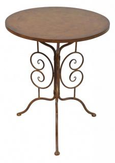 Tisch Gartentisch H72cm Beistelltisch Rund Garten-Deko Eisen Rostdeko Rostoptik