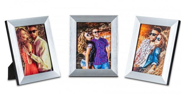 3er Set Bilderrahmen 13x18cm Aluminium Schwarz Fotorahmen Einzelrahmen Tischdeko