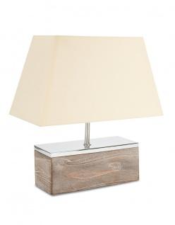 Lampe Tischlampe aus Holz Holzlampe Tischleuchte Licht 40cm hoch