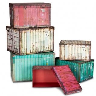 Aufbewahrungsbox 6er Set Boxen Aufbewahrung Geschenkbox Container Industrial