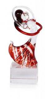 Designer Glas Skulptur 5x14x5cm Tänzer Glasfigur Deko Geschenk Unikat