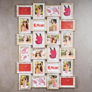 Bilderrahmen weiß gold 24 Fotos Barock Fotorahmen Collage Galerie - Vorschau 3