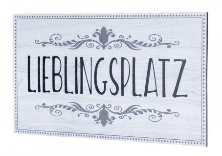 Wandbild 40x20cm Lieblingsplatz Spruch Deko Wandschild Bild Wanddeko Schild