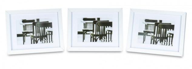 levandeo 3er Set Bilderrahmen 13x18cm Weiß Holz MDF Glasscheiben Rahmen