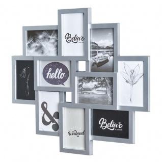 Bilderrahmen Silber 10 Fotos Fotogalerie Fotocollage 3D Optik Collage Wanddeko
