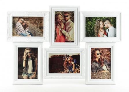 Bilderrahmen weiß 6 Bilder Barock antik Fotorahmen Collage Galerie