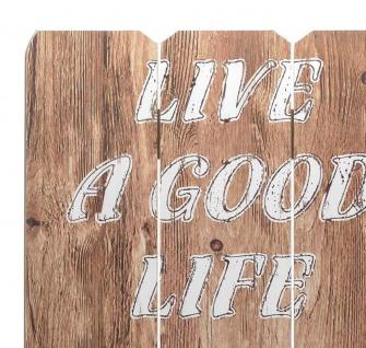 Holz-Schild Wandschild Spruch Good Life Holzbild Wandbild Bild Vintage - Vorschau 2