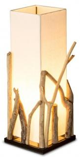 Lampe Tischlampe aus Holz Holzlampe Tischleuchte Treibholz 50cm hoch - Vorschau 1