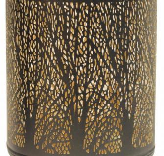 Windlicht 32x20cm Metall Schwarz Gold Kerzenhalter Garten Deko Laterne - Vorschau 3
