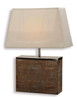 Lampe Tischlampe aus Holz Holzlampe Tischleuchte Licht 50cm hoch