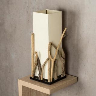 Lampe Tischlampe aus Holz Holzlampe Tischleuchte Treibholz 50cm hoch - Vorschau 2