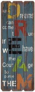 Dekoschild Träume Dreams Wandschild Holzschild Wandobjekt Shabby