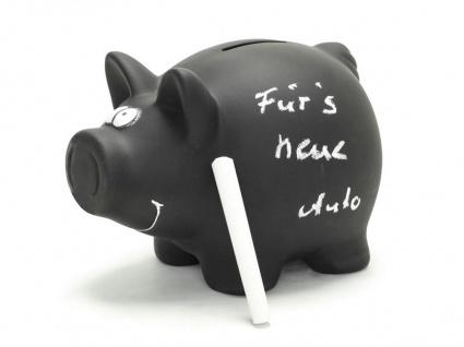 Memo-Sparschwein Spardose mit Kreide und Schlüssel Tafel Sparbüchse