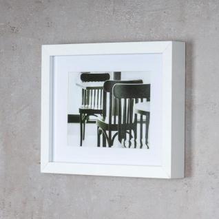 levandeo Bilderrahmen 13x18cm Weiß Holz MDF Glasscheibe Passepartout Rahmen - Vorschau 3