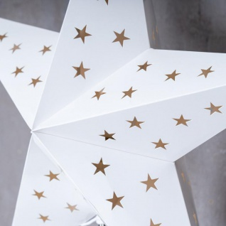 LED Stern B x H 43x67cm Weihnachtsstern Standfuß Deko Lampe Leuchte Tischlampe - Vorschau 5